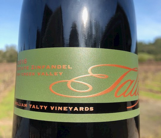 2016 William Talty Estate Zinfandel -CURRENT RELEASE MAIN
