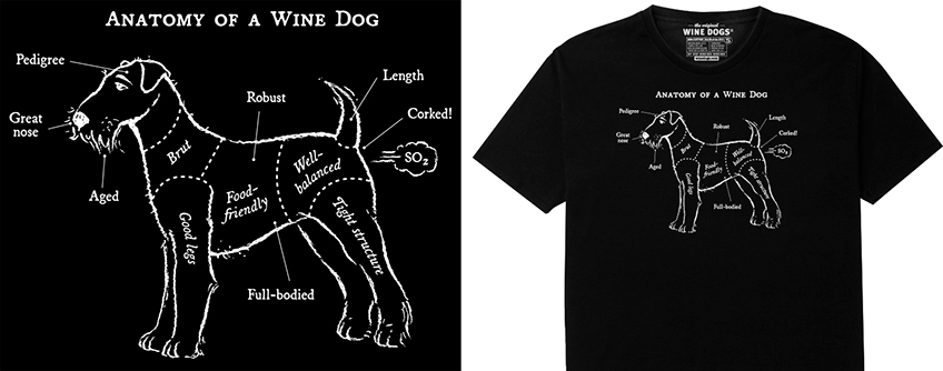 Wine Dog Anatomy Shirt