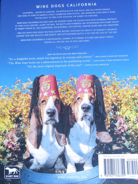Winery Dogs of California Book