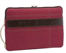 "Nuo Eco-Friendly Canvas iPad or Tablet Sleeve 10"" (Red) (While They Last!)"