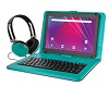 "Ematic 10.1"" Quad-Core Android 8.1 Tablet with Keyboard Bonus Bundle SWATCH"