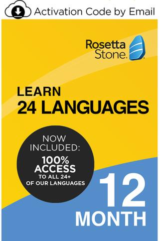 Rosetta Stone - Learn one of 24 Languages - 12 Month Subscription LARGE
