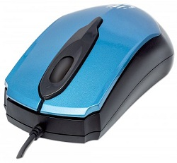 Manhattan Edge 1000 dpi Optical Mouse (Blue)