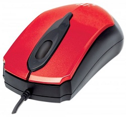 Manhattan Edge 1000 dpi Optical Mouse (Red)