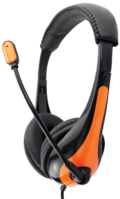 Avid AE-36 On-Ear Headset with Mic (Orange)