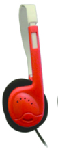 Avid AE-812 Sound Limiting On-Ear Headphones (Red)