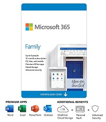 Microsoft 365 Family 1-Year Subscription (Download) LARGE