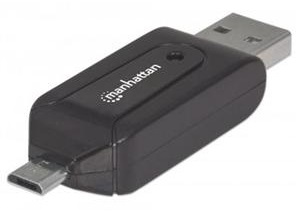 Manhattan imPORT USB, Micro USB Link & 24-in-1 Card Reader for SmartPhones & Tablets