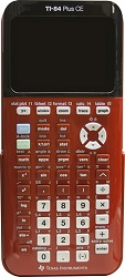 Texas Instruments TI-84 Plus CE Graphing Calculator (Red)