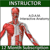 A.D.A.M. Interactive Anatomy Online - Instructor's Version (1 YR Sub) THUMBNAIL