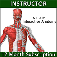 A.D.A.M. Interactive Anatomy Online - Instructor's Version (1 YR Sub)