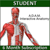 A.D.A.M. Interactive Anatomy Online - Student Version (6 Month Sub) THUMBNAIL