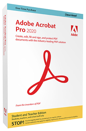 Adobe Acrobat Professional 2020 for WINDOWS (Download) LARGE