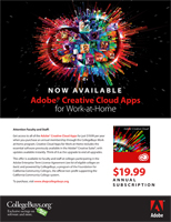 Adobe Creative Cloud For Faculty Flyer - Selected Schools Only