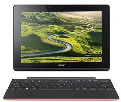 "Acer Aspire Switch 10 SW3-016-17QP 10.1"" Intel Quad-Core 2GB RAM 2-in-1 Laptop PC w/Win 10 (Red)"
