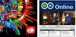 Adobe Creative Cloud (1 Yr Sub - MAC/WIN) & Total TraIning Online For Adobe (FACULTY)