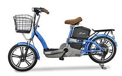 Emojo E1 Electric Bicycle Deluxe (Blue)