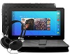 "Ematic 10"" Quad-Core Android 7.1 Tablet Bonus Bundle (Black)"
