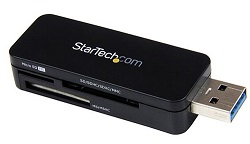 StarTech USB 3.0 External Flash Multi Media Memory Card Reader LARGE