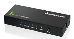 IOGEAR 4K Ultra HD 4-Port Splitter with HDMI