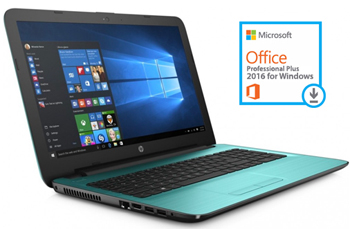 "HP 15-BA083NR 15.6"" Touchscreen AMD A8 4GB Laptop PC with Microsoft Office Pro Plus 2016 (3 Colors)"