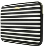 "Kate Spade New York Printed Laptop Sleeve for 13"" Macbook (Fairmont Square Black/Cream)"