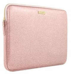 "Kate Spade New York Printed Laptop Sleeve for 13"" Macbook (Rose Gold Glitter) LARGE"