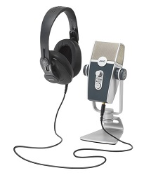 AKG Lyra All-In-One Podcaster Kit with FREE 7.1 USB Sound Card LARGE