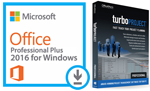 Microsoft Office 2016 with TurboProject Pro - Project Planning Bundle (Windows Download)