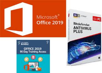 Microsoft Office 2019 Pro Plus w/AntiVirus and Office Training (Student Download) WINDOWS LARGE