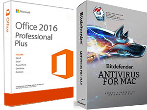 Microsoft Office 2016 for Mac w/AntiVirus (Student Download) MAC