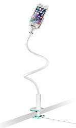 CTA Digital 2-in-1 Flexible Desk Clamp LED Lamp and Mount for Tablets & Smartphones (On Sale!)