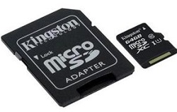 Kingston Class 10 microSDXC Card 64GB