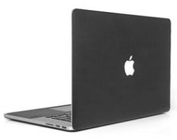 "onanoff Leather Skin for MacBook Pro with Retina 13"" with FREE Lightning Cable (Black)_LARGE"