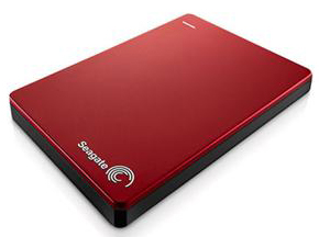 Seagate Backup Plus Slim 1TB Portable USB 3.0 External Hard Drive (Red)