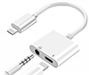 iPhone Splitter Cable - 1 Lightning Port and 1 AUX Port (Listen and Charge) - For 3.5mm Earbuds THUMBNAIL