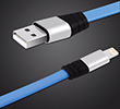 6-Foot Tangle-Free Flat MICRO Cable for Android/Samsung THUMBNAIL