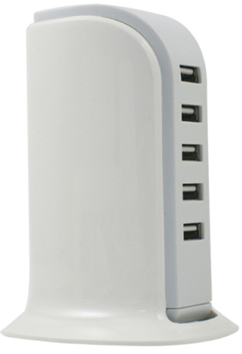 USB 5 Port Desktop Charging Tower - (2 For $30) THUMBNAIL