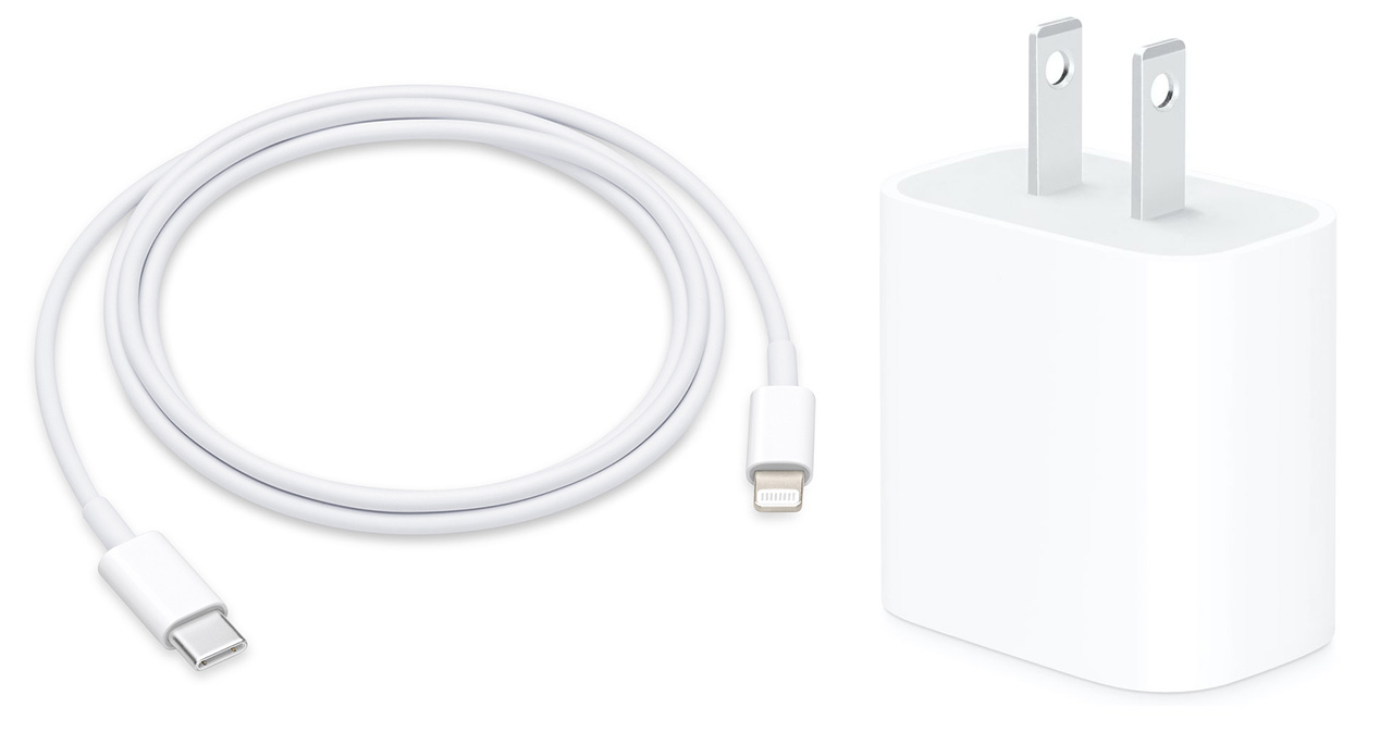 Lightning Cable & USB-C Power Adapter Bundle for iPhone 12 THUMBNAIL