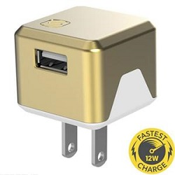 Scosche SuperCube Flip 12W USB Wall Charger (Gold)