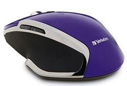 Verbatim Wireless Notebook 6-Button Deluxe Blue LED Mouse (Purple)