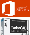 Microsoft Office 2019 Pro Plus for Windows with TurboCAD Deluxe 2018 (Download)