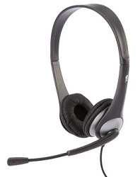 Cyber Acoustics AC-204 Speech Recognition Stereo Headset with Y-Adapter