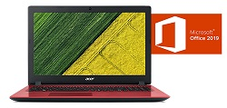 "Acer Aspire 3 15.6"" FHD Intel Celeron 4GB RAM Laptop PC with MS Office Pro 2019 (Oxidant Red) LARGE"