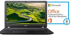 "Acer Aspire 3 A315-51 15.6"" Intel Core i3 4GB RAM Notebook PC with Microsoft Office Pro 2016 (Black)"
