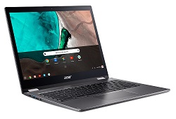 "Acer Chromebook Spin 13 13.5"" QHD Touchscreen Intel Core i5 8GB RAM 64GB Flash Memory LARGE"