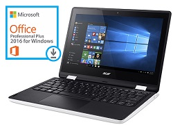 "Acer Aspire R3-131T 11.6"" Touchscreen Intel Celeron Quad Core 4GB RAM Notebook PC w/Office Pro 2016"