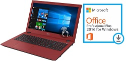 "Acer Aspire 3 A315-51 15.6"" Intel Core i3 4GB RAM Notebook PC with Microsoft Office Pro 2016 (Red)"