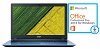 "Acer Aspire 3 A315-51 15.6"" Intel Core i3 4GB RAM Notebook PC with Microsoft Office Pro 2016 (Blue)"
