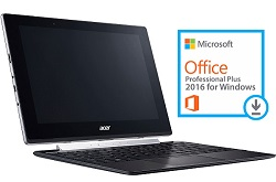"Acer Switch V 10 SW5-017P-17JJ 10.1"" Touchscreen Intel Atom X5 4GB RAM Detachable PC w/Office 2016"